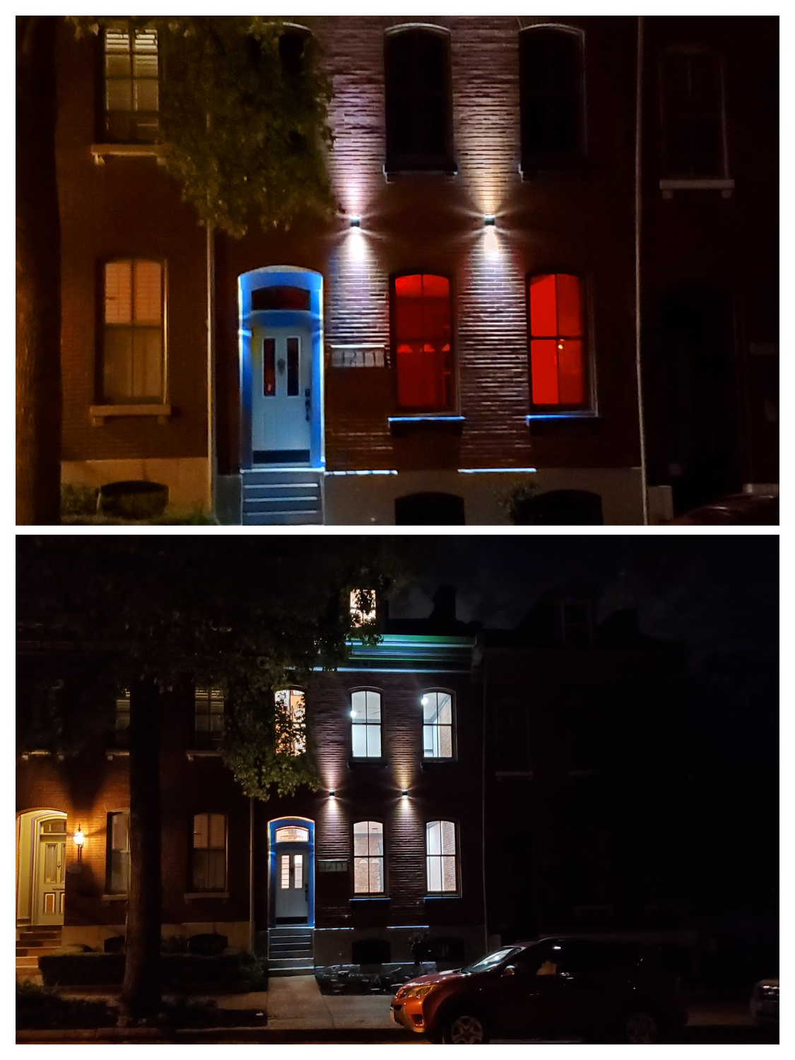 Historic House Lit Up At Night Soulard